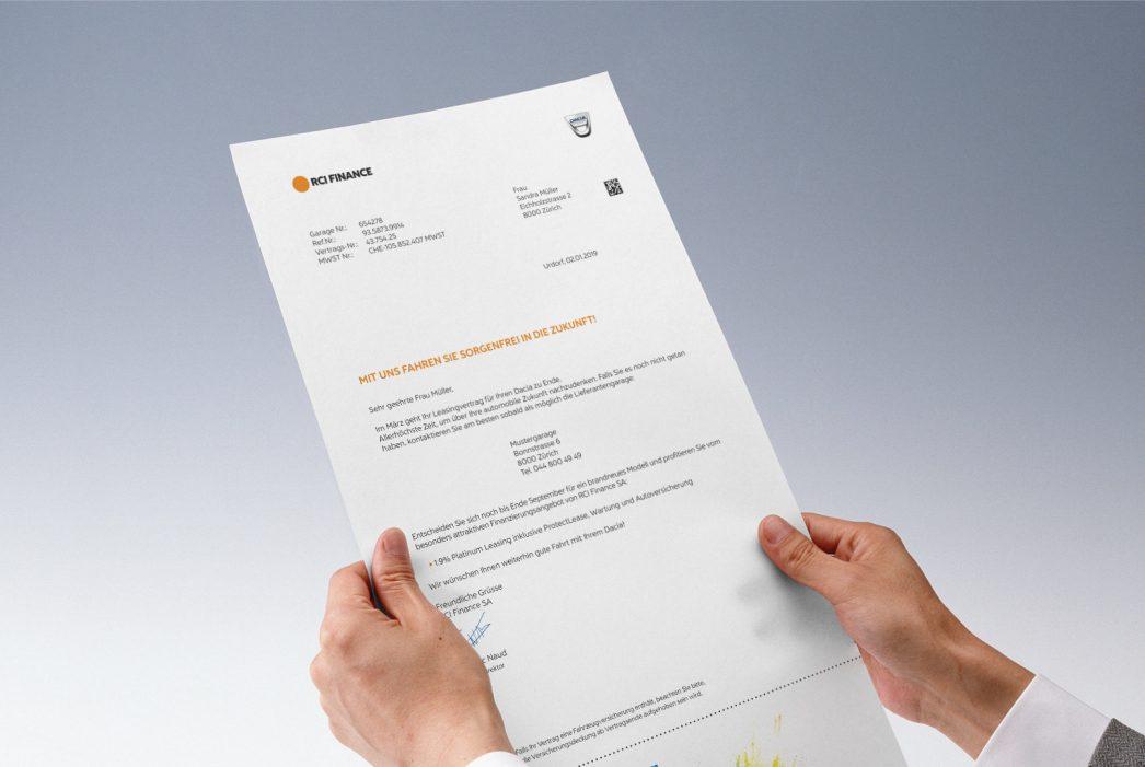 RCI Finance – Mailing