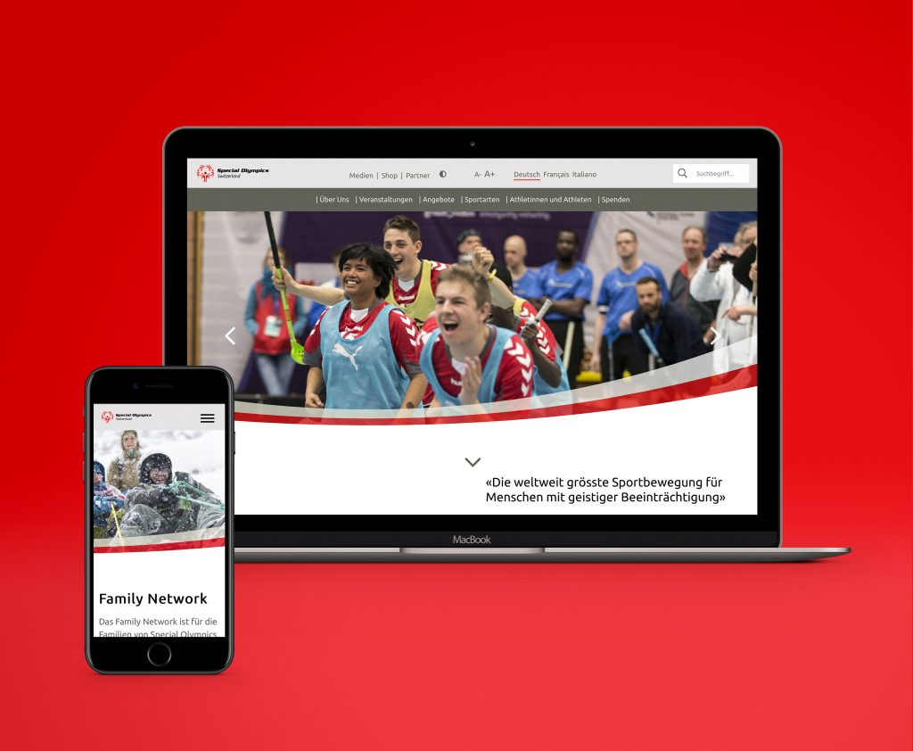Compresso.Digital gestaltet behindertengerechte Website für Special Olympics