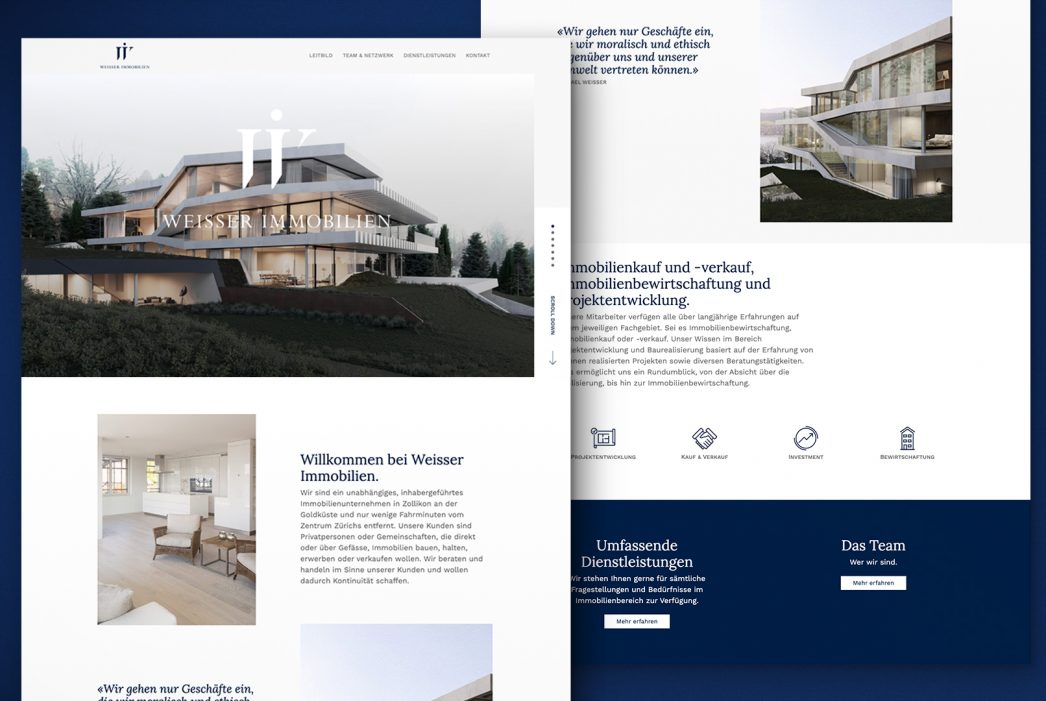 Weisser Immobilien – Website