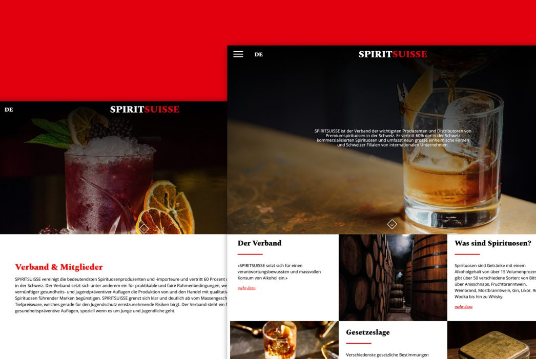 Spiritsuisse – Website